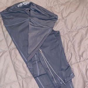 Grey Ankle Zippered Victoria's Secret Leggings